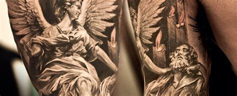 75 remarkable angel tattoos for men ink ideas with wings