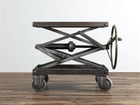 scissor lift table industrial scissor lift table 3d model restoration hardware