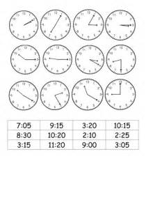 clock template ks2 match analogue clocks to 12 hour digital times by roso28
