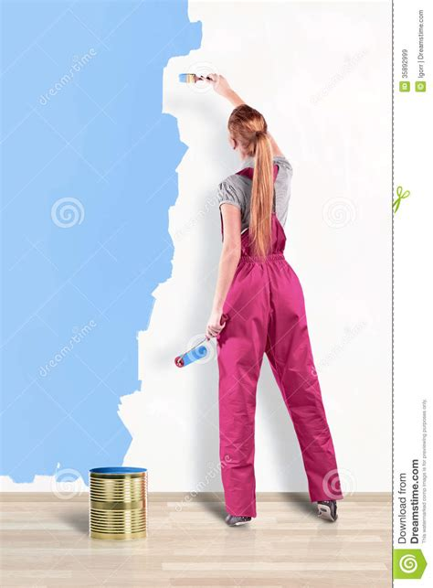 house painter painting www pixshark com images house painter royalty free stock images image 35892999