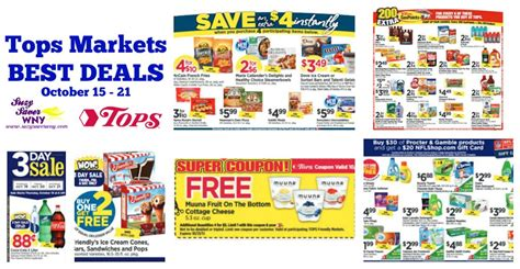 tops grocery coupons printable tops markets ad scan deals october 15 21 2017