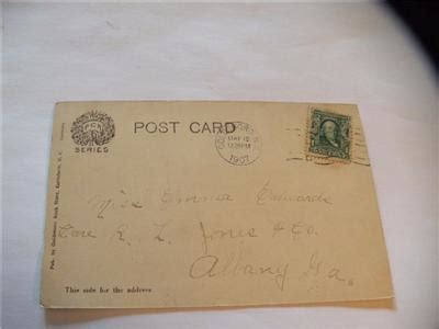 antique postcard view in herman park goldsboro nc posted