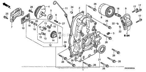 honda engines gxu vxe engine jpn vin gcask  parts diagram  crankcase cover
