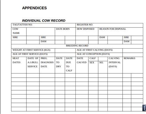 14 livestock business plan template clip dollar