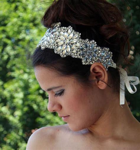 Vintage Wedding Hair Veils by Wedding Rhinestone Headband Wedding Veils