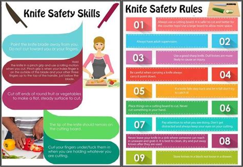 knife safety tips kitchen knife handling and safety kids cooking poster set kids cooking activities
