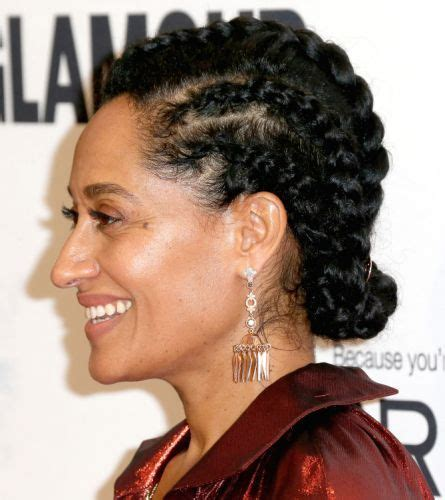 tracee ellis ross bun 24 best updos for black hair special styles for your