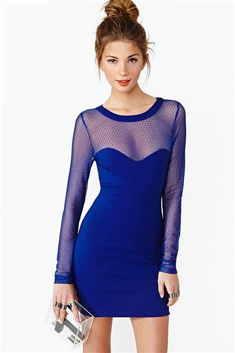 Dress Spot Blue gal spot dress in blue lyst
