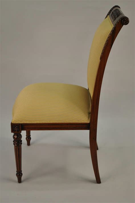 High End Dining Chairs 8 High End Gold Leaf Accented Mahogany Dining Chairs 8 Side Chairs Gold Leaf Ebay