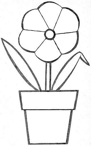 dibujos de macetas con flores para colorear dibujos para colorear macetas