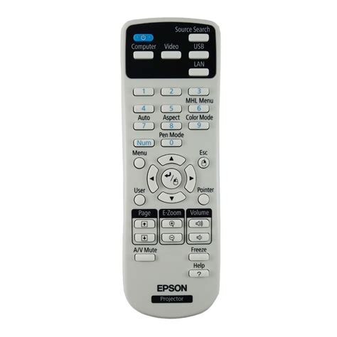 Remote Proyektor Epson New Genuine Epson 1613717 161371700 Projector Remote