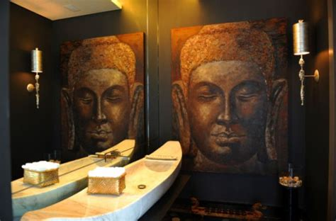 buddha bathroom decorate with buddha statues and representations