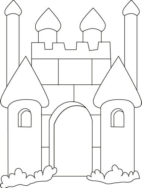 medieval castle coloring page castle coloring pages bestofcoloring com