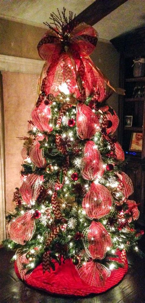 25 best ideas about mesh christmas tree on pinterest