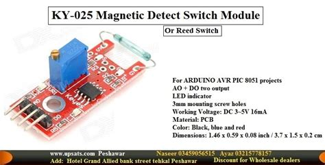 Ky 025 Reed Switch Magnetic Sensor Module For Arduino Avr Pic Baru reed switch ky 025 reed magnetic module