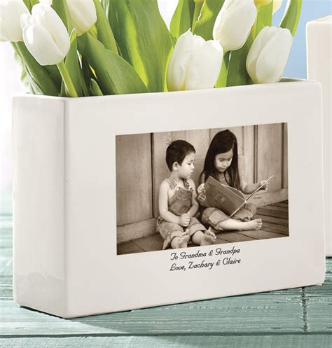 Personalized Photo Vase by Personalized Photo Vase Ceramic Photo Vase Photo Vase