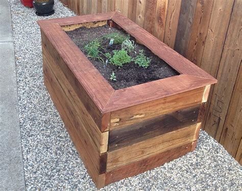 Wood For Planter Box by Garden Box Plans White Counter Height Garden Boxes