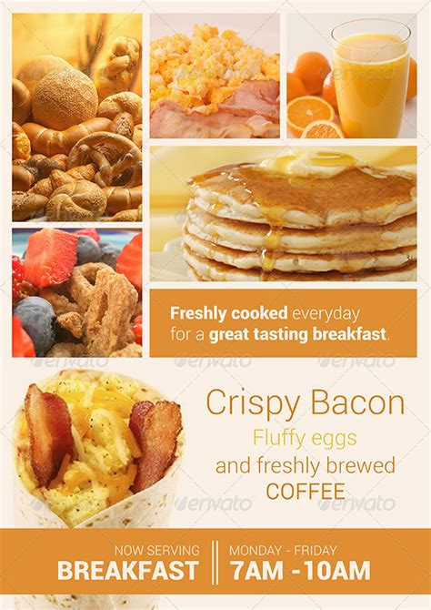 Breakfast And Chocolate Flyer Set By Dantaque Graphicriver Breakfast Flyer Template