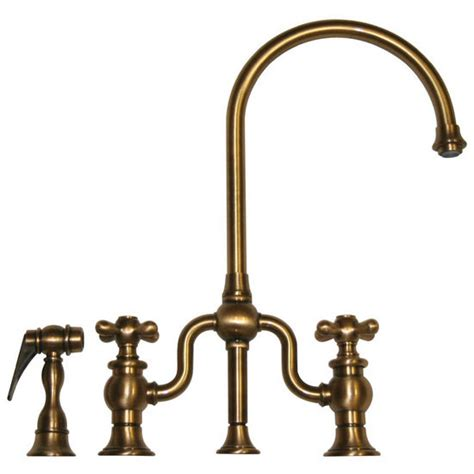 antique brass kitchen faucets kitchen faucets twisthaus kitchen bridge faucet long