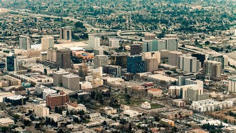 san jose the san jose new aerial photo of downtown san jose