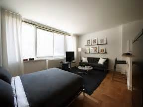 studio apartment style decoration black theme interior decorating ideas for