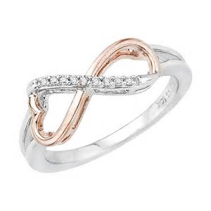 Two Tone Infinity Ring Two Tone Sterling Silver Accent Infinity