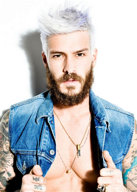 trend gray platinum hair men beards male platinum blonde hair color trends 2017