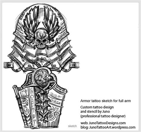armor tattoo sketch for full arm how to create a tattoo