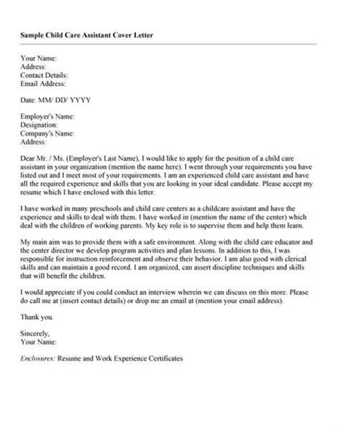 Child Care Letter Template Gallery Of Day Care Worker Cover Letter