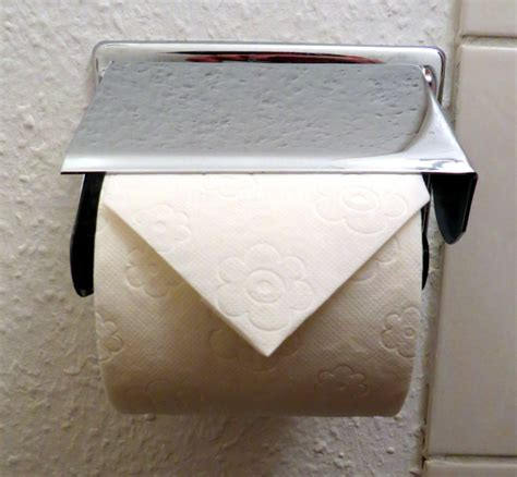 How To Fold Toilet Paper - toilet paper triangle fold allaboutlean