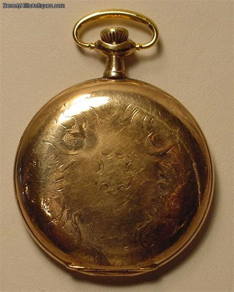 antique illinois gold filled pendant or pocket for