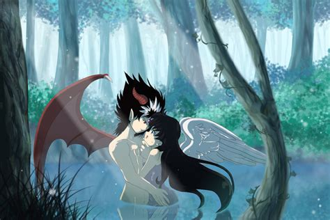 angel and devil by mikarabidkitsune on deviantart