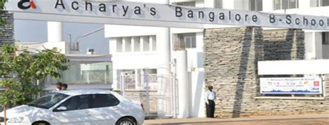 Universal College Bangalore Mba by Acharya Bangalore B School College Fees Structure