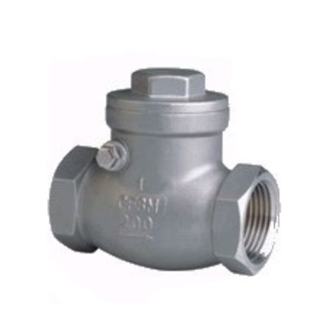 how does a swing check valve work swing thread check valve swing threaded check valve