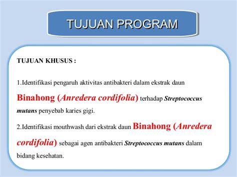 Herbal Arthritis Daun Binahong Anredera Cordifolia 1 uji aktivitas ekstrak daun binahong terhadap s mutans