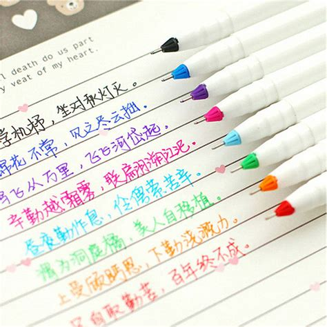new 8pcs korean stationery watercolor pen gel pens set color kandelia fi ebay