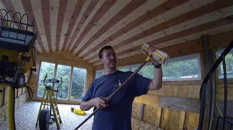 hard   finish  tg pine ceiling youtube