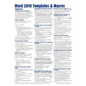 phlet template reference guide template word 2010
