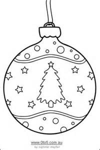 baubles templates to colour ornaments on silhouette silhouette