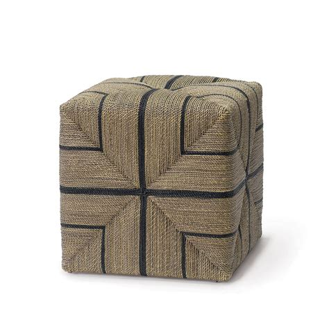 rope ottoman rope cube ottoman mecox gardens