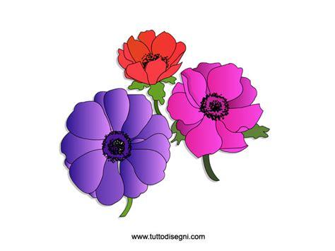fiori disegnati e colorati anemoni fiori colorati tuttodisegni