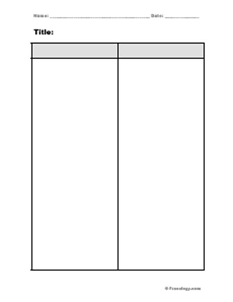 two column notes template blank 2 column notes form freeology