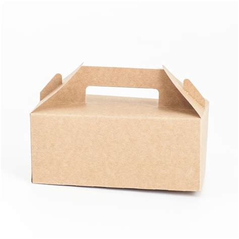 Kraft Gable Cookies Box Easter Snack Dus Paper Bag Paskah stylish food boxes for children picnics and events pretty shop