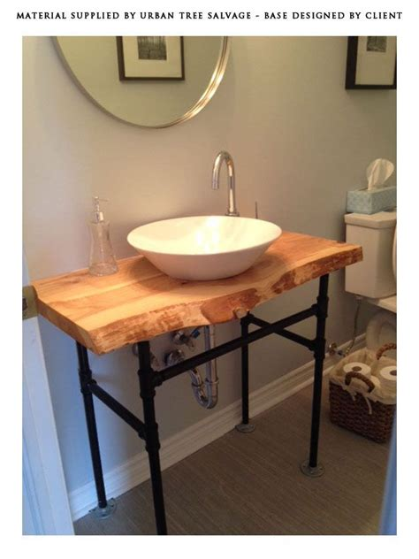 Wood Top Bathroom Vanity 13 Best Salvaged And Reclaimed Live Edge Vanities Images On Pinterest