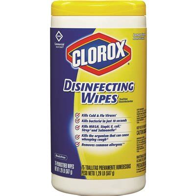 clorox disinfecting wipes lemon fresh  wipes  containers  case
