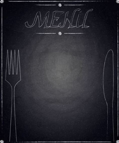 Animal Ornaments by Restaurant Menu With Blackboard Background Vector 13
