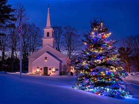 ★christmas in new england★ winter & nature background