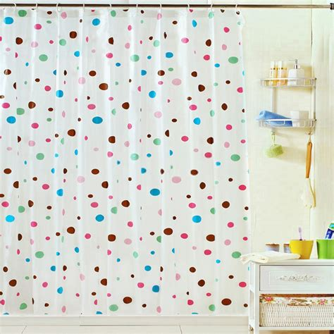 Colorful Shower Curtains Print Pattern Modern Colorful Shower Curtain For Waterproof