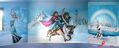 frozen elsa anna olaf kristoff  sven mural