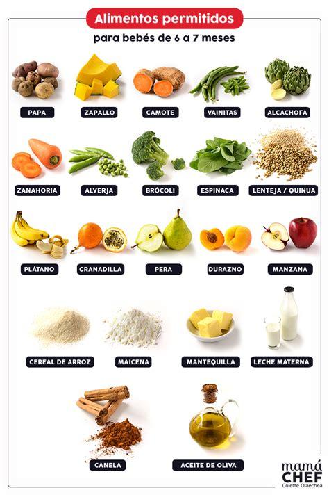 alimentos bebes 6 meses alimentos para beb 233 s de 6 a 7 meses cuidado beb 233